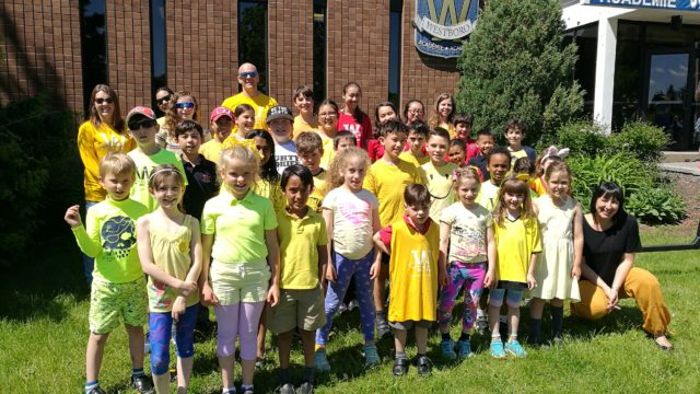 Group of students wearing yellow colours